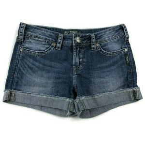 Silver Jeans Shorts - Silver Jeans Toni 3 1/2 Blue Jean Shorts